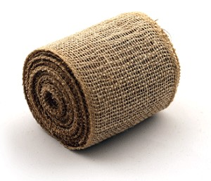 "Natural Burlap Jute Ribbon with a Finished Edge, 4"" x 10 yards (30 feet)"