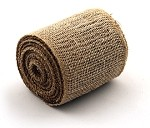 Natural Burlap Jute Ribbon with a Finished Edge, 4