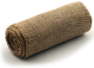 "Natural Burlap Jute Ribbon with a Finished Edge, 9"" x 10 yards (30 feet)"