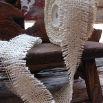 Ivory Burlap Jute Ribbon with Fringed Edge, 1.5