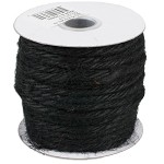 Black Jute Rope, 3.5mm x 25 yards