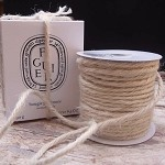 Ivory Jute Rope, 3.5mm x 25 yards