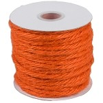 Orange Jute Rope, 3.5mm x 25 yards
