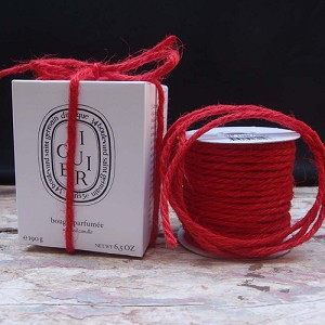 Red Jute Rope, 3.5mm x 25 yards
