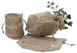 Burlap Round Bottom Bags (7.5