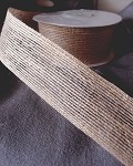 Natural Jute Ribbon with Serged Edge, 1.5