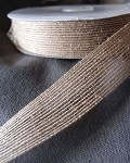Natural Jute Ribbon with Serged Edge, 1