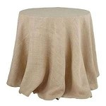 Natural  Burlap Tablecloth - 60