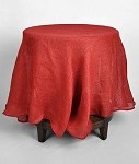 Red Burlap Tablecloth - 60