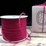 Burgundy Burlap Jute Twine, 1.5 mm x 100 yards