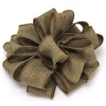 Moss Burlap Wired Ribbon, 1-1/2
