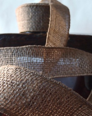 "Natural Burlap Wired Ribbon, 2"" x 10 yards (30 feet)"