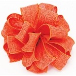 Orange Burlap Wired Ribbon, 1-1/2