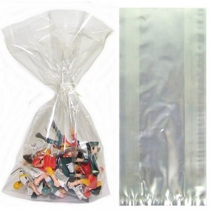 "Clear Cellophane Bags  (5"" x 3"" x 11.5""), 100 pack"