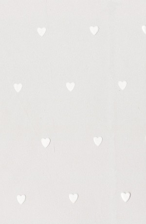 Hearts-White Cellophane Printed Bags, (5 x 3 x 11.5), 100 bags