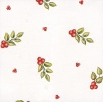 Red Berries Printed Cellophane Roll, 100' L
