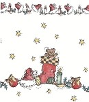 Teddy Stocking Cellophane Printed Bags, 100 bags