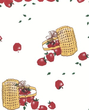 Apples Everywhere Printed Cellophane Roll, 100' L