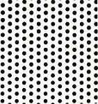 Dots-Black Printed Cellophane Roll, 100' L