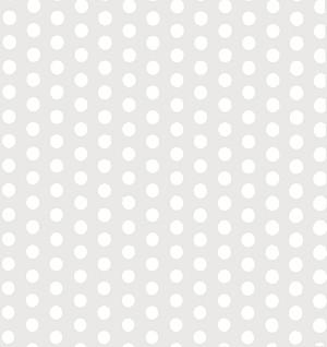 "Dots (White) Printed Cellophane Basket Bags (15"" x 20""), 50 piece pack"