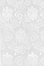 Elegant Lace White Printed Cellophane Roll, 100' L
