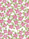 Flower Patch - Pink Printed Cellophane Roll, 100' L
