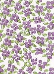 Flower Patch - Purple Printed Cellophane Roll, 100' L
