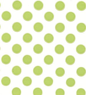 Large Dots-Mint Printed Cellophane Roll, 100' L