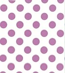 Large Dots-Lavender Printed Cellophane Roll, 100' L