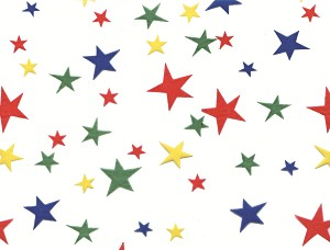 Primary Stars Cellophane Printed Bags, 100 bags