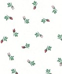 Rosebuds Printed Cellophane Roll, 100' L
