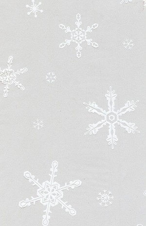 "Snowflakes Printed Cellophane Basket Bags (18"" x 24""), 50 piece pack"