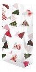 Plaid Trees Cellophane Printed Bags, 100 bags