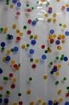 More Dots-Blue, Red, Yellow, Green Cellophane Printed Bags, 100 bags