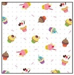 Cupcake Printed Cellophane Roll, 100' L