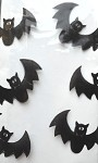 Bats Cellophane Printed Bags, 100 bags