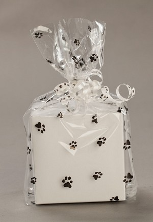 Paws Cellophane Printed Bags, 100 bags