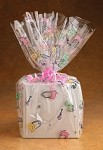 Baby Pins Cellophane Printed Bags, 100 bags