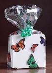 Monarch Butterflies Cellophane Printed Bags,Small (3.5 inch x 2 inch x 7.5 inch), 100 bags