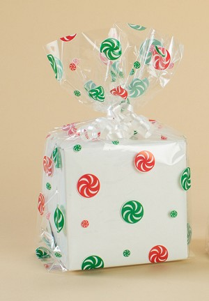 Peppermints Cellophane Printed Bags, 100 bags