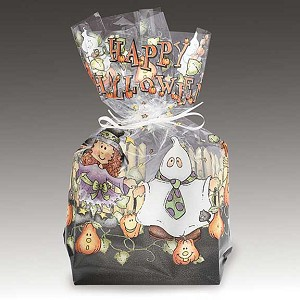 Trick or Treat Cellophane Printed Bags, 100 bags