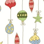 Merry Ornaments Cellophane Printed Bags, 100 bags
