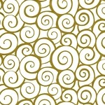 Euro Swirl Gold Printed Cellophane Roll, 100' L