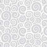 Euro Swirl White Printed Cellophane Roll, 40