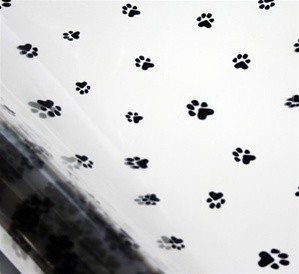 Paws Printed Cellophane Roll, 100' L
