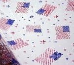 Patriotic Printed Cellophane Roll, 40in x 100' L