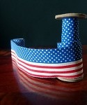 American Flag Print On 100% Cotton, 1.5 in x 10yd