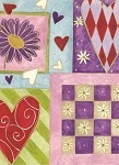 Harlequin Hearts Gift Wrap, 24
