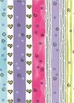 Hearts & Stripes Gift Wrap, 24