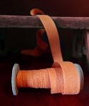 Orange Linen/Cotton Ribbon 5/8
